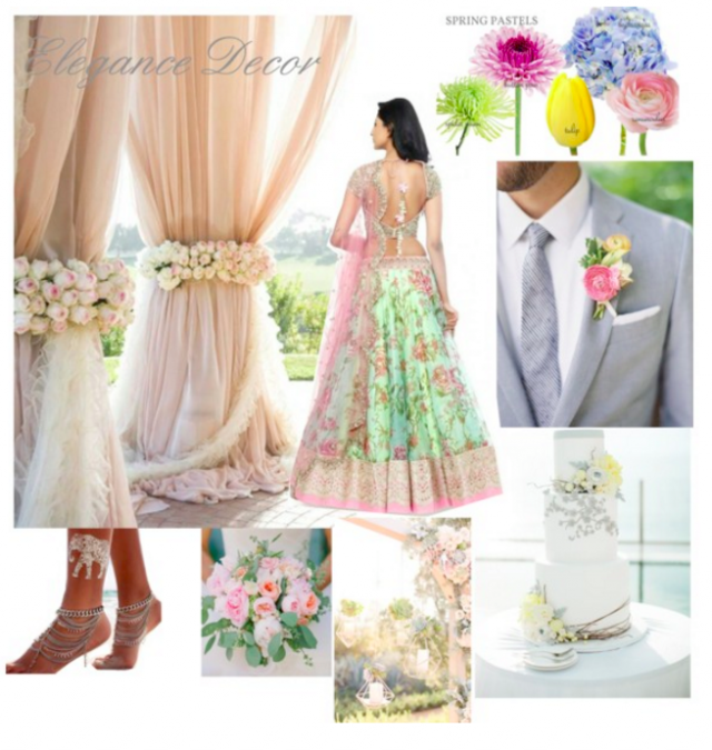 Spring Indian wedding Color Palette - Design board