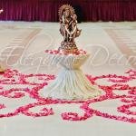 Rangoli Garba - Sangeet Decor For an Indian Wedding By Elegance Decor 847-791-0397 contact@elegance-decor.com- Serving the Midwest (Chicago, Iowa, Michigan, Ohio, Indiana)