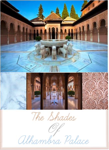 Color Inspiration for indian Wedding chicago  - Powder Blue Rose Gold Alhambra
